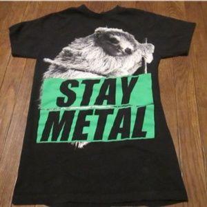Miss May I STAY METAL Sloth Band Shirt Adult Small